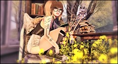 MyHappyPlaceOfPeace1 (shirley Uborstein) Tags: life cute nerd fashion female outdoors blog yummy dorky mort suicide peaceful books scene mandala sl kawaii second glam tres gurls chic angelica affair petite enchanted taketomi dollz amitie epoch arise evani since1975 izzies collabor88 randommatter {lovefox}