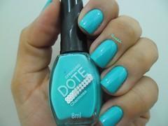 Charmosa - Dote (Desafio do Adeus - 04 + Desafio Repeteco) (Raabh Aquino) Tags: turquoise nails nailpolish unhas dote turquesa esmaltes naillacquer