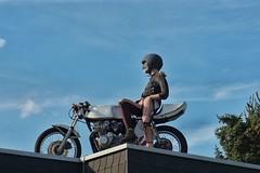 Bikers welcome (pesom) Tags: roof bike pegasus sony motorbike motorcycle biker dach neukirchen mirrorless a6000