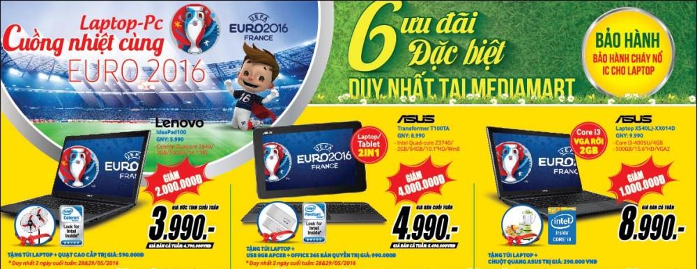 Cuồng nhiệt cùng Euro 2016, MediaMart tặng quạt điều hòa cao cấp khi mua TV