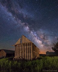 "Milky Way over vintage granary (IronRodArt - Royce Bair (""Star Shooter"")) Tags: barn rural vintage stars utah nightscape farming agriculture universe oldbuilding granary nightscapes milkyway starrynightsky"