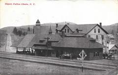 NYC RR Station, Fulton Chain (Thendara, NY) (CNYrailroadnut) Tags: new york old railroad ny scenic rr chain mohawk forge fulton adirondack malone thendara bigmoose cenral