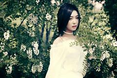 Emotive (Bomm Green) Tags: portrait white girl beauty fashion female dress outdoor emotive