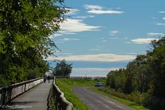 Passeggiata lungo mare a Fossalon. Walking in Fossalon's waterfront. (omar.flumignan) Tags: road sky canon eos three strada mare waterfront erba cielo albero lungo argine 7def24105f4lisusm