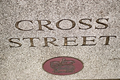 Paved (richardsolway) Tags: cross street sign redruth cornwall granite stone