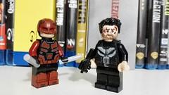 The Devil and The Punisher (josh tittarelli) Tags: lego custom daredevil netflix punisher minifigures