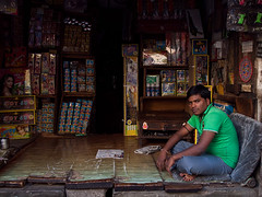 Pune (Evgeni Zotov) Tags: city people india man shop sit indie wait vendor maharashtra sell indi trade indien seller pune salesman inde trader shopkeeper  hindistan   ndia