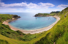 Lulworth (OutdoorMonkey) Tags: ocean sea seascape beach nature landscape outside bay coast seaside harbour outdoor cove bluesky coastal dorset coastline seashore lulworth