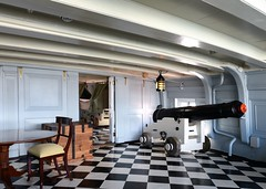 HMS Victory (gillybooze) Tags: lamp cabin pattern chairs navy nelson historic tables cannon hmsvictory lordnelson navalhistory allrightsreserved