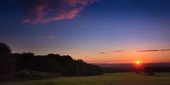 Devon Sunset (sophiediscombe) Tags: devon exeter long exposure canon 100d canonefs1018mm 1018mm wide angle sky skyline blue sunset sun landscape england