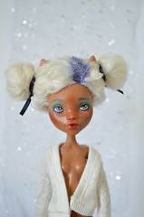Clawdeen wip (Milk and Bunny) Tags: monster high doll ooak repaint reroot clawdeen wolf