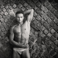 Francesco (francesco ercolano) Tags: bw man male beauty muscles nude bn speedo sorrento fitness