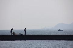 3 (  / Yorozuna) Tags: sea silhouette japan boat seaside fishing fisherman ship seawall hiroshima   breakwater takehara  angler  angling            tadanoumi       seaembankment  tideembankment tadanoumiport coastlevee