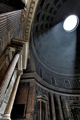 Ancient Rome. Interior of The Pantheon of M. Agrippa, Rome, 126AD (mike catalonian) Tags: rome pantheon hadrian emperor agrippa ancientrome romanarchitecture 2ndcenturyad 126ad