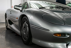 XJ220 (MaxwellSoul) Tags: sexy classic cars silver design cool fast retro workshop british jaguar supercar gaydon xj220 jaguarxj220 200mph worldcars britishmotormuseum