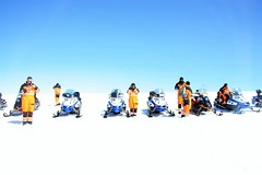 Iceland (michaelp.clarke) Tags: sky snow ice volcano iceland glacier snowmobiling