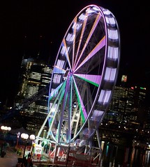 Darling Harbour (Bob Bain1) Tags: travel lights sydney australia nsw newsouthwales ferriswheel darlingharbour canon550