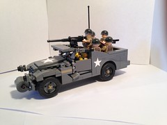 M3A1 Scout Car (Lego Sherman) Tags: car lego wwii scout m3a1