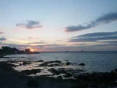 IMG_20160617_214434 (lusciousblopster) Tags: ireland sunset sea sky dublin irish cloud tower nature beauty rock swimming swim outdoors coast waves solstice shore bathing seapoint martello seaswimming
