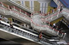 Blaak railway station (jan_vrouwe) Tags: underground rotterdam blaak railway railwaystation movingstairway