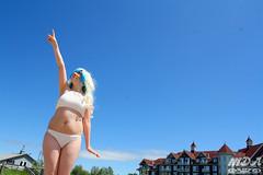 IMG_1760 (MDA Cosplay Photography) Tags: pink blue mountain ontario anime cute beach water pond village collingwood photoshoot princess cosplay tengen manga resort bikini nia swimsuit 2016 toppa gurrenlagann gurren lagann bikinicosplay teppelin gurrenlaganncosplay niacosplay yeticon
