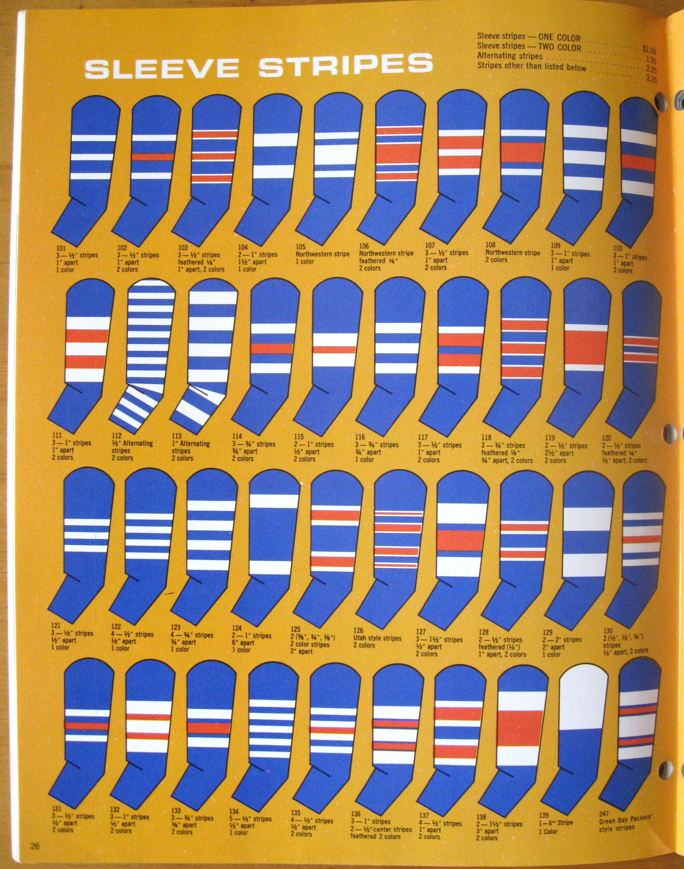 stripey blue color