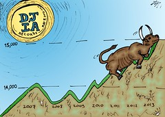binary options news cartoon bull running djia records (binaryoptionsbinaires) Tags: news jones high cartoon run bull business trading record caricature editorial binary economic trade financial average webcomic nyse option options trader dow djia induatrial optionscilck
