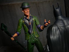 """So, the shaved monkey has failed. How utterly, utterly expected!"" (Wizard of X) Tags: robin actionfigure harley edward batman quinn joker dccomics catwoman riddler brucewayne bobkane dickgrayson dcdirect nygma billfinger arkhamcity"