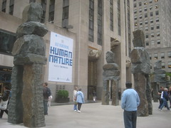 Human Nature Exhibit at 30 Rock Statues 9649 (Brechtbug) Tags: from street new york city nyc art feet nature public june rock stone 30 by artist display manhattan nine s center exhibit midtown part human tall 16 through 20 rockefeller 50th figures sculptures ugo fund rondinone 2013 ranging