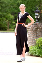Fringe (Thedrawingmannequin) Tags: fashion fossil belt fringe cognac maxi lbd littleblackdress blackdress jeffreycampbell maxidress fashionblogger statementnecklace fringenecklace blackmaxidress