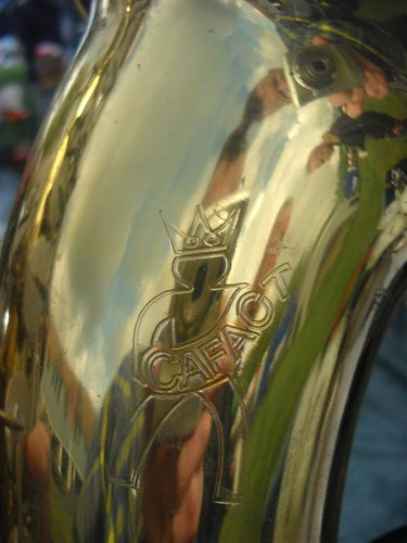 Cafact tenor early and bad Taiwanese sax, my first sax (alto) was a Cafact !-( Rosmalen
