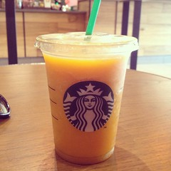 (liveyourdreamtoday) Tags: england food cold yellow yummy drink juice starbucks mango bournemouth poole passionfruit uploaded:by=flickrmobile flickriosapp:filter=nofilter