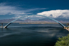 SR 188 Bridge Over Roosevelt Lake - Explore 22 (Laveen Photography (aka cyclis451)) Tags: bridge arizona lake water clouds landscape arch steel scenic az roosevelt reedit cyclist451 laveenphotography
