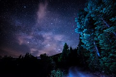 Into The Night (Christophe_A) Tags: mountain night stars nikon nightscape clear astrophotography f28 d800 milkyway intothenight 14mm epirus offcameraflash samyang strobist sb700 christopheanagnostopoulos tetrakomo χριστοφοροσαναγνωστοπουλοσ χριστόφοροσαναγνωστόπουλοσ