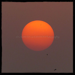Promise of the Setting Sun (designldg) Tags: light sunset sky orange sun india birds mystery square photography asia colours peace symbol delhi atmosphere soul ethereal imagination shanti saket eternity quietness  indiasong panasonicdmcfz200
