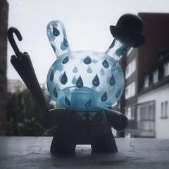 A Toy A Day - Rainy London Dunny by Kidrobot / Triclops (Sai / Rebecca) Tags: blue umbrella toy grey kidrobot bowler android app dunny rainylondon triclops yeoldeenglish nexus4 atoyaday instagram