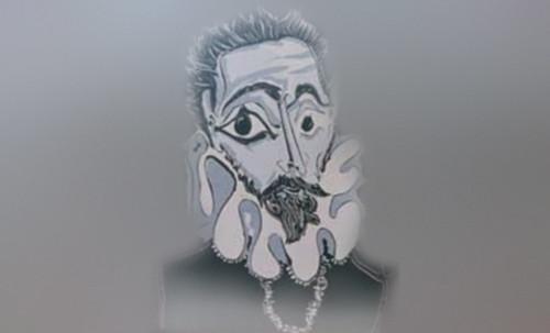 """Hidalgo Ibérico, expresión de Doménikus Theokópoulos el Greco (1597), transcripción de Pablo Picasso (1971). • <a style=""""font-size:0.8em;"""" href=""""http://www.flickr.com/photos/30735181@N00/8746813973/"""" target=""""_blank"""">View on Flickr</a>"""