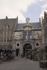 Neptune over the Fishmarket (Wendy:will catch up ASAP!) Tags: belgium neptune fishmarket ghent gent touristoffice