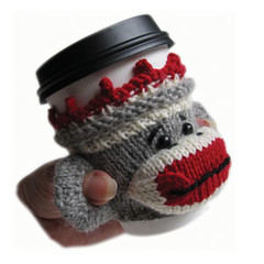 Sock Monkey Cup Sleeve PDF