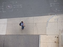 (mestes76) Tags: people boston massachusetts strangers sidewalk viewfromtheroof viewfromabove viewfromtherooftop 051312