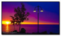 Outdoor Lighting (MyGallery) Tags: sunrise lakesuperior duluthminnesota nikone8800