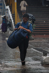 Lashing rain in Chandni Chowk old Delhi (CSE Environment Photo Gallery) Tags: india delhi monsoon rainfall csepictures cseenvironmentphotogallery