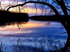 Connecticut River Sunset (PJD-DigiPic) Tags: sunset water clouds river newengland connecticutriver blueandgold glastonburyconnecticut cloudsstormssunsetssunrises pjddigipic