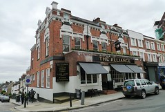 Alliance, West Hampstead, NW6 (Ewan-M) Tags: england london pubs kilburn alliance milllane ravenshawstreet westhampstead nw6 rgl londonboroughofcamden thealliance greenekingpub needsrglreview watneycombereidpub localspub watneyspub picklednewt thepicklednewt