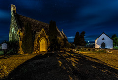 All Saints Church of England (Aaron.J.R.S) Tags: longexposure nightphotography sky church swansea night canon stars landscape startrails allsaintschurch ef1740mmf4lusm lightroom4 canon5dmark3