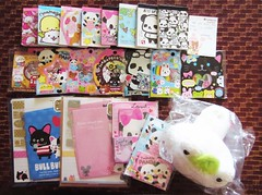 swap from AJStarfish. (JU671NE) Tags: paper stickers sanrio swap kawaii stationery crux qlia fortissimo sanx kamio mindwave poolcool