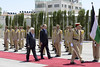 Ramallah: il Presidente del Consiglio, Enrico Letta, incontra il Presidente palestinese Mahmūd Abbās
