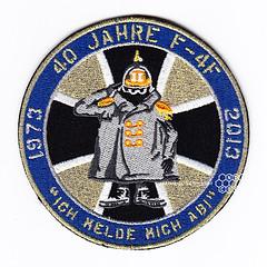 """40 Jahre F-4F """"Ich melde mich ab"""" Patch (Spotterforlife) Tags: force air german luftwaffe germanyair 71jg forceluftwaffejagdgeschwader 71richthofenetntwittmundhafen"""