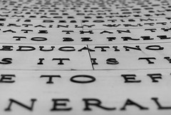Educating (Leptonist) Tags: blackandwhite bw monument word words education perspective educating