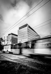 Old & New (Maciek Lulko) Tags: longexposure blackandwhite bw architecture nikon tram sigma poland polska move trams wroclaw tramwaj wrocław silesia śląsk breslau architektura tramwaje sigma1020 breslavia greentowers architecturephotos d7000 nikond7000
